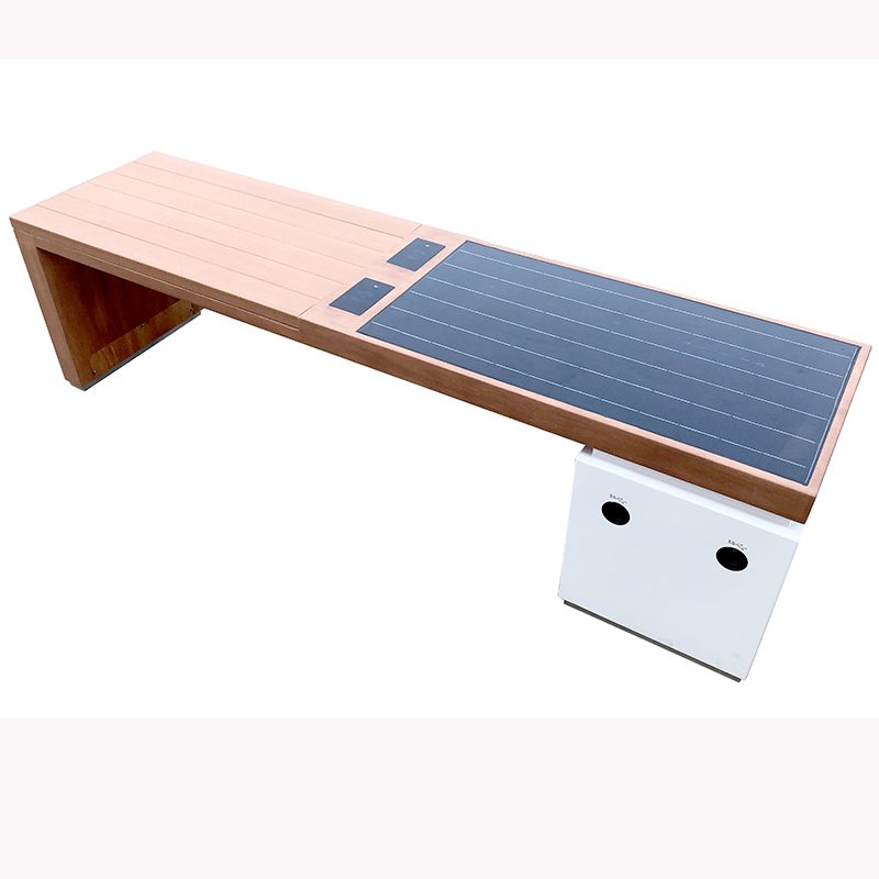 Solar Powered Phone Charging WiFi Access Outgoor Furniture Smart Bench