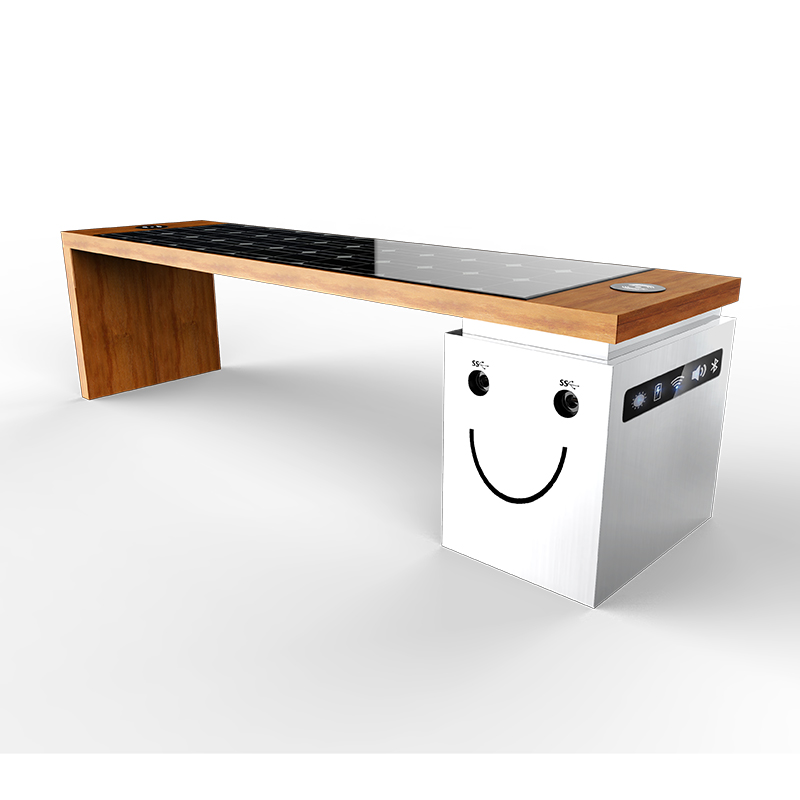 USB Charging Smart Wifi Professionel Manufacturer Udendørs Street Bench