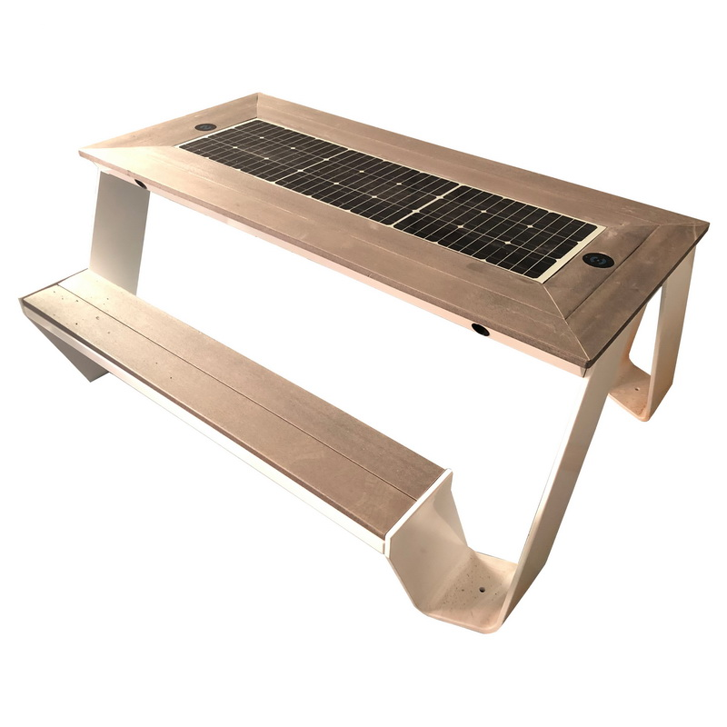 Ny design modestil Høj kvalitet Solar Smart Bench